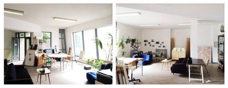 Schreibtisch im 3er Ateliergemeinschaft *ab sofort* / desk available in open-plan atelier