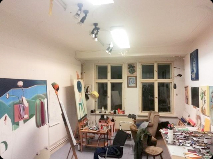 Atelier Sublet in the centre of Berlin Neukölln (during March): 30 qm for 270 eur.