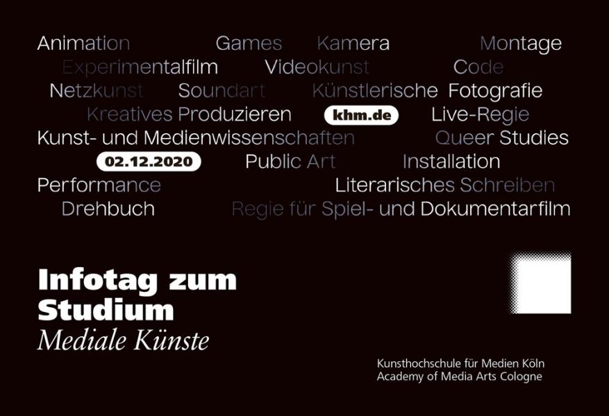 Digitales Flanieren - Infotag zum Studium an der Kunsthochschule für Medien Köln (KHM)
