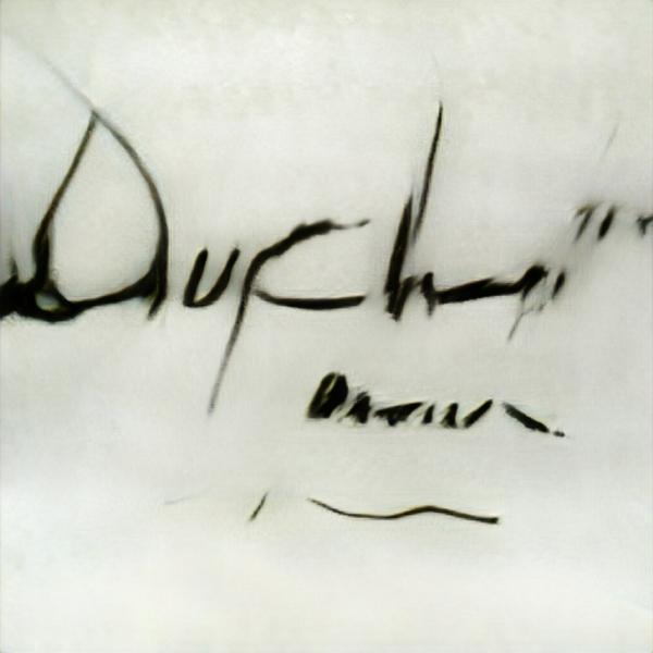 Interpretation der Signatur Marcel Duchamp